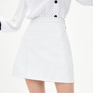 Zara Faux Leather Mini Skirt in Color Ice